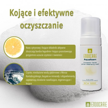 ENDOCARE 1% SCA AQUAFOAM Pianka oczyszczająca do skóry wrażliwej oraz ze skłonnością do podrażnień